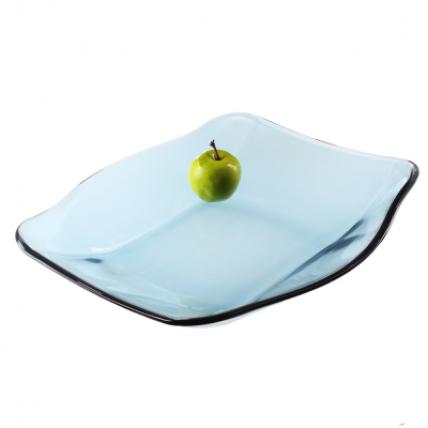 Đĩa thủy tinh vuông Nettuno Blue 28 màu xanh (Bormioli Rocco) - 4