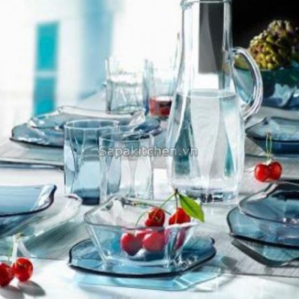 Tô thủy tinh Nettuno Blue 15 màu xanh (Bormioli Rocco) - 3