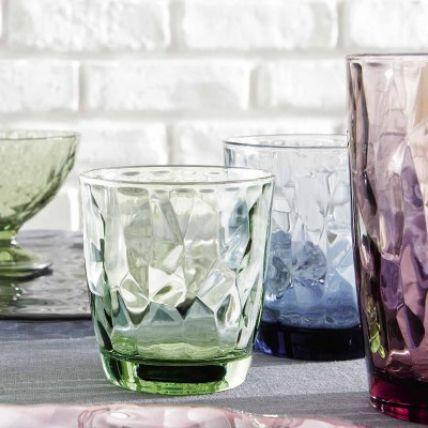 Bộ 6 ly thủy tinh Diamond 30cl - xanh lá (Bormioli Rocco) - 2