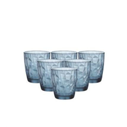 Bộ 6 ly thủy tinh Diamond 30cl - xanh biên (Bormioli Rocco) - 3