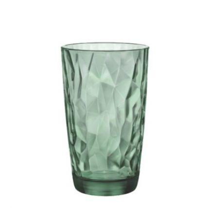 Ly thủy tinh Diamond 47cl - xanh lá (Bormioli Rocco) - 1