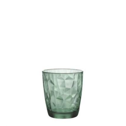 Ly thủy tinh Diamond 30cl - xanh lá (Bormioli Rocco) - 4
