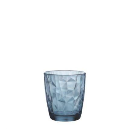 Ly thủy tinh Diamond 30cl - xanh biển (Bormioli Rocco) - 1