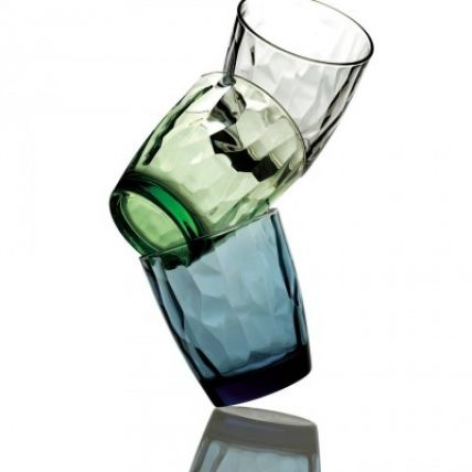 Bộ 6 ly thủy tinh Diamond 30cl - xanh lá (Bormioli Rocco) - 3