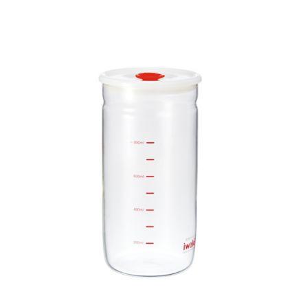 Hũ thủy tinh chịu nhiệt nắp hít Iwaki 1L (cao) - 6