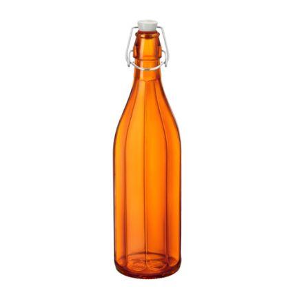 Chai thủy tinh nắp cài Oxford 1L - màu cam (Bormioli Rocco) - 1