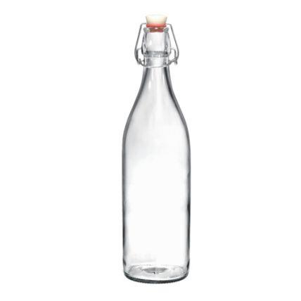 Chai thủy tinh nắp cài Giara 1L (Bormioli Rocco) - 1