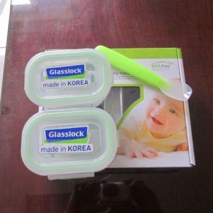 Bộ 2 hộp thuỷ tinh Glasslock + 1 muỗng - 2