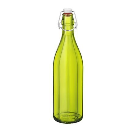 Chai thủy tinh nắp cài Oxford 1L - màu xanh lá (Bormioli Rocco) - 1