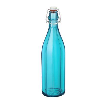 Chai thủy tinh nắp cài Oxford 1L - màu xanh ngọc (Bormioli Rocco) - 1