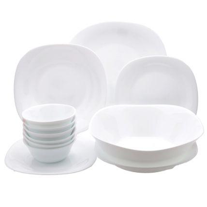Bộ chén đĩa thủy tinh vuông Parma 12 món (Bormioli Rocco) - 1