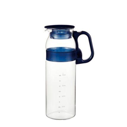 Bình nước thủy tinh Iwaki 1.3L tay cầm xanh - 1