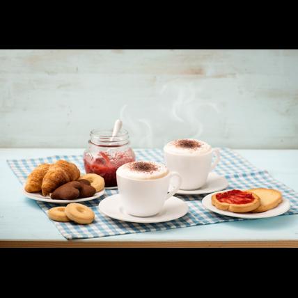 Bộ tách đĩa trà thủy tinh 12 món Ronda 22cl (Bormioli Rocco) - 3