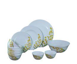 Bộ chén đĩa thủy tinh Diva Ivory Y.G 12 món (La Opala)