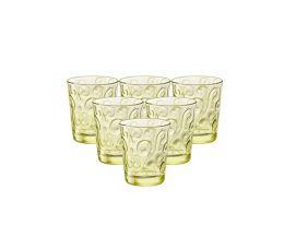 Bộ 6 ly thủy tinh Naos 29.5cl - màu vàng (Bormioli Rocco)