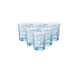 Bộ 6 ly thủy tinh Naos 29.5cl - màu xanh biển (Bormioli Rocco)