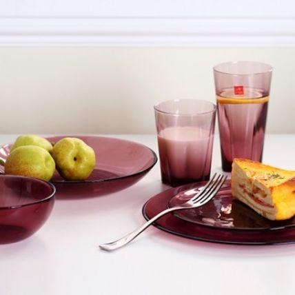 Combo 6 đĩa thủy tinh Hya Purple - màu tím (Bormioli Rocco) - 1