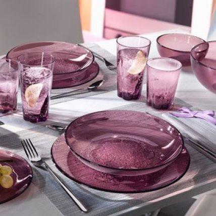 Combo 6 đĩa thủy tinh Hya Purple - màu tím (Bormioli Rocco) - 2