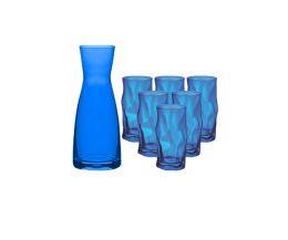 Combo bình ly thủy tinh màu xanh biển Ypsilon-Sorgente (Bormioli Rocco)