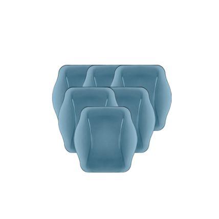 Combo 6 đĩa thủy tinh Nettuno Blue 19 - màu xanh (Bormioli Rocco) - 1