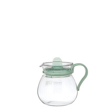 Bình trà thủy tinh Iwaki 400ml - xanh lá - 1