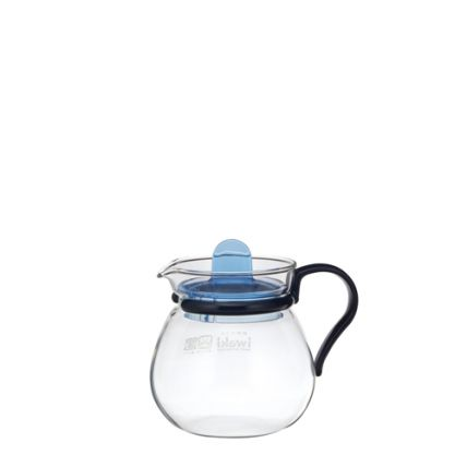 Bình trà thủy tinh Iwaki 400ml - xanh dương - 1