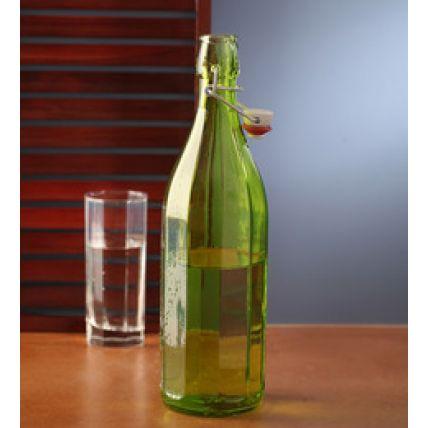 Chai thủy tinh nắp cài Oxford 1L - màu xanh lá (Bormioli Rocco) - 3