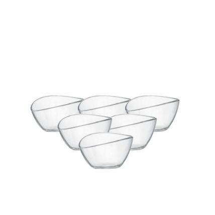 Bộ 6 chén kem thủy tinh Aria beta 25cl - màu trắng (Bormioli Rocco) - 3