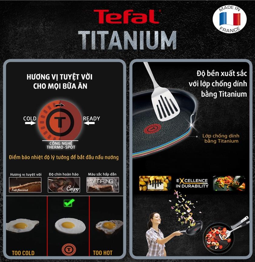 Chảo chống dính Tefal Expertise 24cm h4