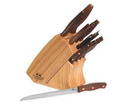 Bộ dao cán gỗ 12 món Chicago Walnut