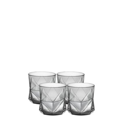 Bộ 4 ly thủy tinh Cassiopea 32cl - màu khói (Bormioli Rocco) - 1