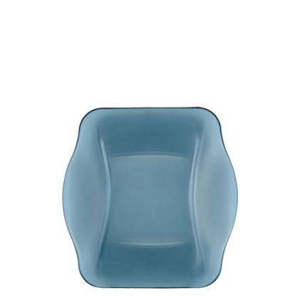 Đĩa soup thủy tinh vuông Nettuno Blue 22 màu xanh (Bormioli Rocco) - 1