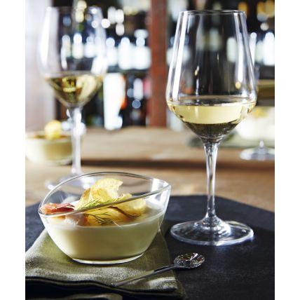 Bộ 6 chén kem thủy tinh Aria beta 25cl - màu trắng (Bormioli Rocco) - 2