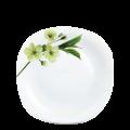 Đĩa  thủy tinh vuông 325 Diva Ivory S.D (La Opala) - small 1