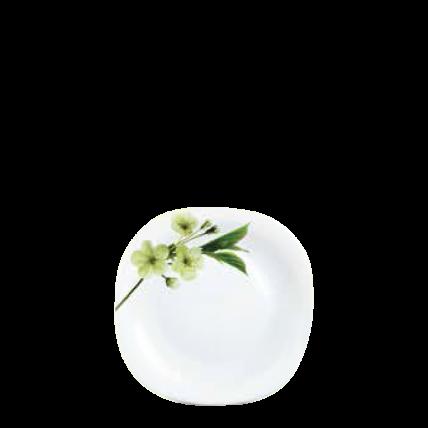 Đĩa thủy tinh vuông 205 Diva Ivory S.D (La Opala) - 1