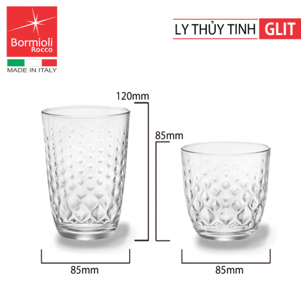 Bộ 6 ly thủy tinh Glit 39.5cl (Bormioli Rocco) - 3