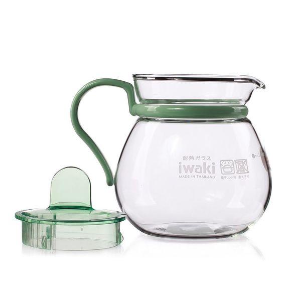 Bình trà thủy tinh Iwaki 400ml - xanh lá
