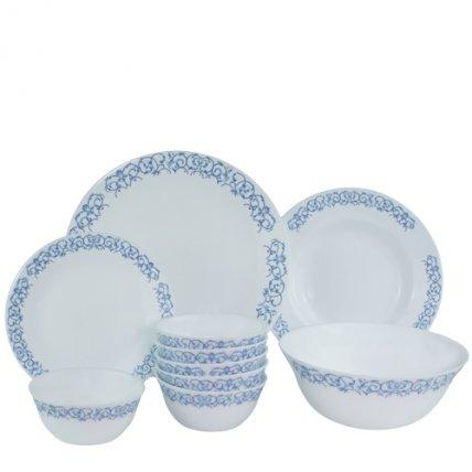 bộ chén đĩa thủy tinh Diva Ivory R.A 10 món (La Opala)