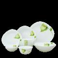 Bộ chén đĩa thủy tinh vuông tròn Diva Ivory I.B 12 món (La Opala) - small 1