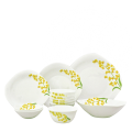 Bộ chén đĩa thủy tinh vuông tròn Diva Ivory Y.G 12 món (La Opala) - small 1