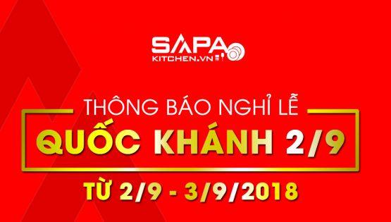 SapaKitchen - Thông báo nghỉ lễ tháng quốc khánh 2/9