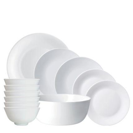 Bộ chén đĩa thủy tinh Asian 12 món