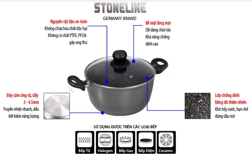 Nồi chống dính Stoneline: an toàn, tiết kiệm điện năng, hoàn hảo cho các món ăn ngon