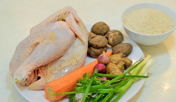 Một số nguyên liệu cơ bản nấu cháo gà